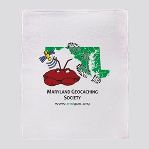 MGS Crab Logo Throw Blanket