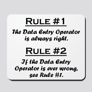 Data Entry Operator Mousepad