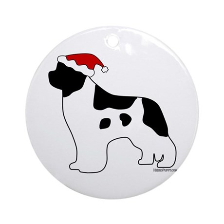 Landseer Santa Ornament (Round)