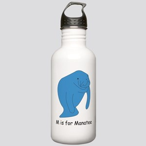 M is for Manatee Stainless Water Bottle 1.0L