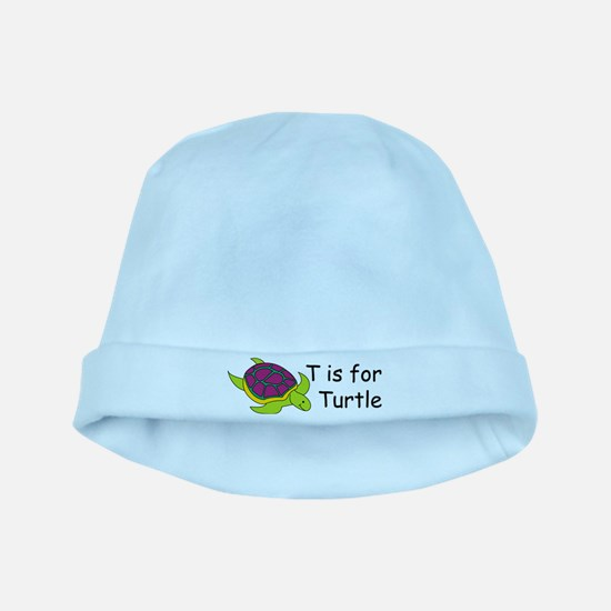 T is for Turtle baby hat