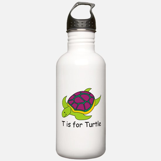T is for Turtle Water Bottle