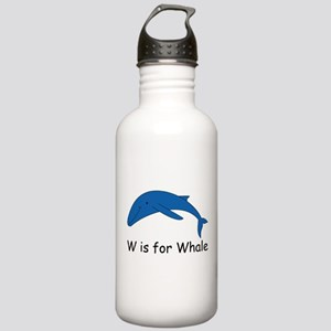 W is for Whale Stainless Water Bottle 1.0L
