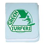 Green Surfers baby blanket