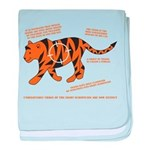 Tiger Facts baby blanket