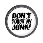 Don't Touch My Junk Wall Clock
