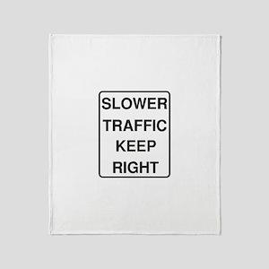 Slower Traffic Throw Blanket