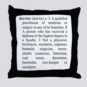 Doctor Definition Throw Pillow