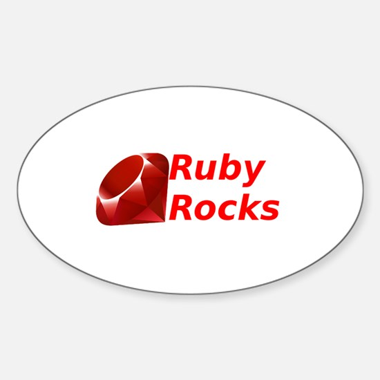 Ruby Rocks Sticker (Oval)