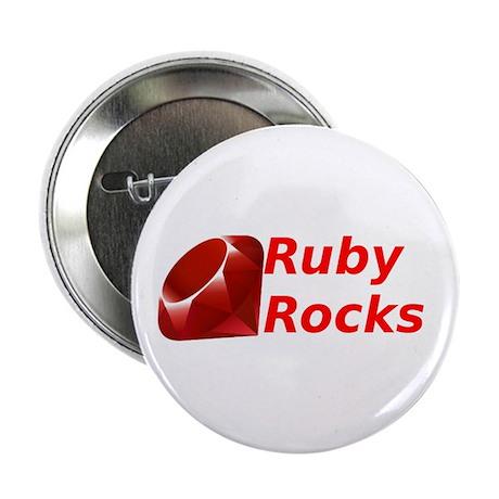 """Ruby Rocks 2.25"""" Button"""