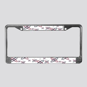 Atheist Symbol RWB License Plate Frame