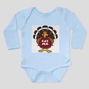 'Eat Me' Turkey Long Sleeve Infant Bodysuit