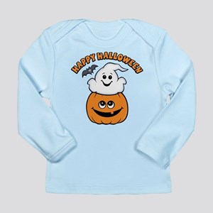 Ghost In Pumpkin Long Sleeve Infant T-Shirt