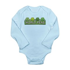 World Peas Long Sleeve Infant Bodysuit
