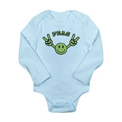 Peas Long Sleeve Infant Bodysuit