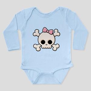 Cute Skull Girl Long Sleeve Infant Bodysuit