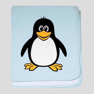 Funny Penguin baby blanket