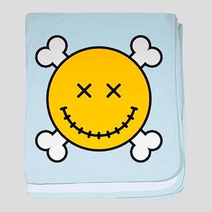 Smiley and Crossbones baby blanket