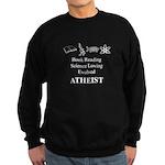 Book Science Evolved Atheist Sweatshirt (dark)