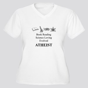 Book Science Evolved Atheist Women's Plus Size V-N