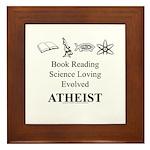 Book Science Evolved Atheist Framed Tile