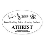 Book Science Evolved Atheist Sticker (Oval)