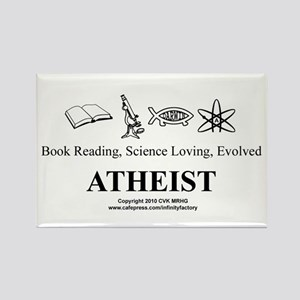 Book Science Evolved Atheist Rectangle Magnet