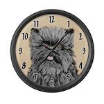 Affenpinscher Large Wall Clock