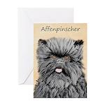 Affenpinscher Greeting Card