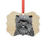 Affenpinscher Picture Ornament