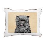 Affenpinscher Rectangular Canvas Pillow