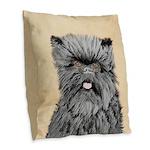 Affenpinscher Burlap Throw Pillow