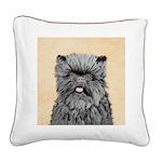 Affenpinscher Square Canvas Pillow