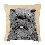 Affenpinscher Woven Throw Pillow