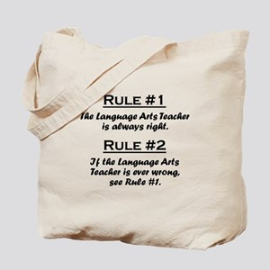 Language Arts Teacher Tote Bag