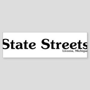 State Streets Sticker (Bumper)