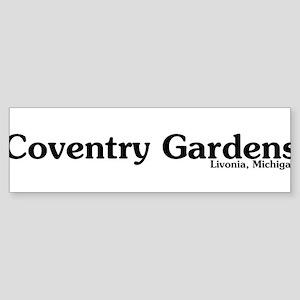 Coventry Gardens Sticker (Bumper)
