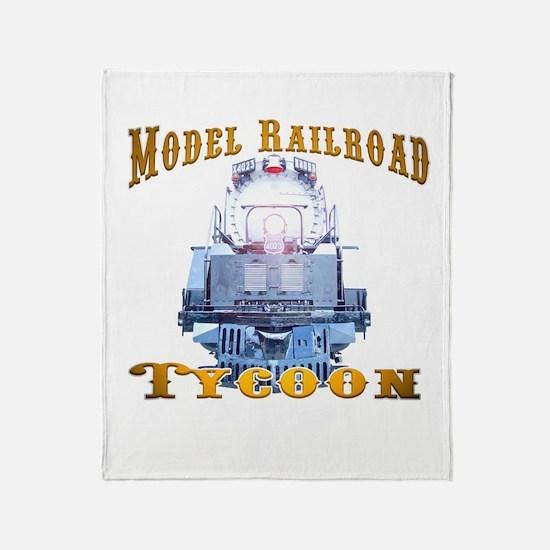 Cute Model railroad tycoon Throw Blanket
