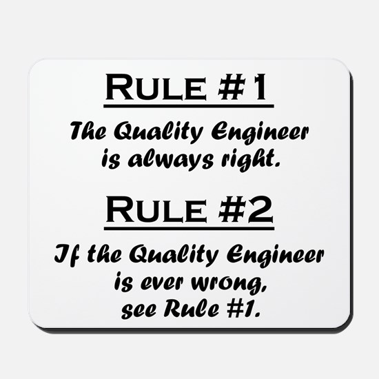 Quality Engineer Mousepad
