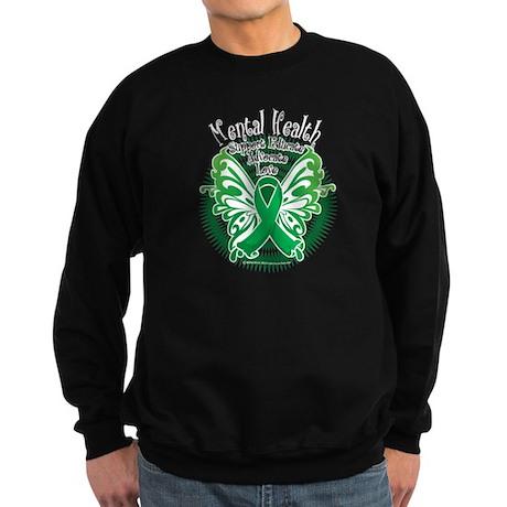 Mental Health Butterfly 3 Sweatshirt (dark)