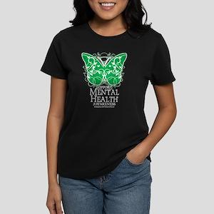 Mental Health Butterfly Women's Dark T-Shirt