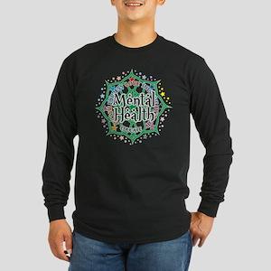 Mental Health Lotus Long Sleeve Dark T-Shirt