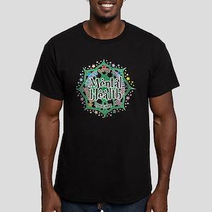 Mental Health Lotus Men's Fitted T-Shirt (dark)