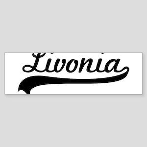 Livonia Script Sticker (Bumper)