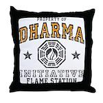 Dharma Flame Station Throw Pillow