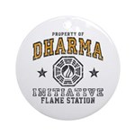 Dharma Flame Station Ornament (Round)