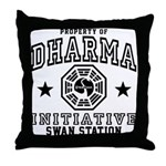 Dharma Swan Throw Pillow