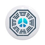 Dharma Blue Peace Ornament (Round)