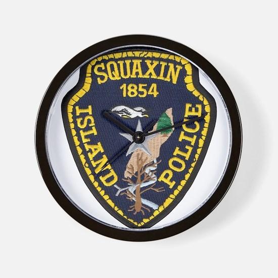 Squaxin Island Police Wall Clock