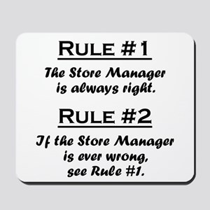 Store Manager Mousepad